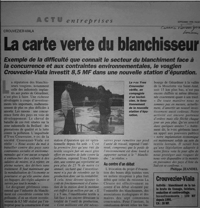 La carte du blanchisseur 98