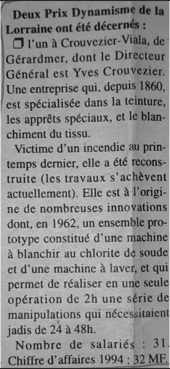 Prix dynamisme 1995