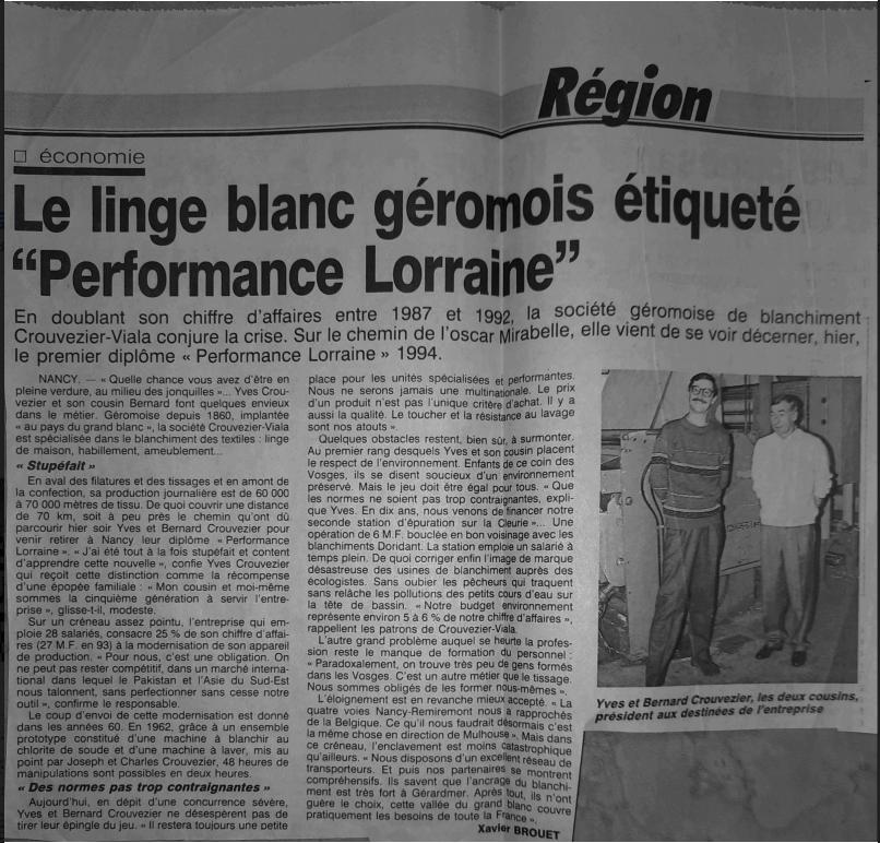 Prix performance Lorraine