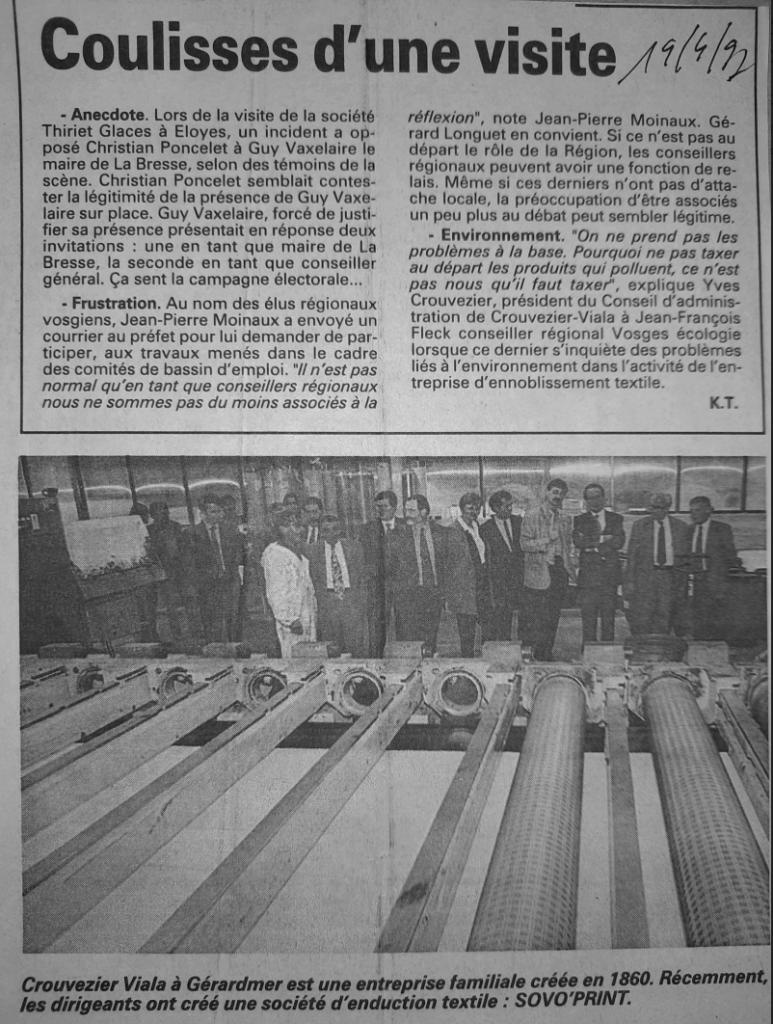 Visite préfet 1997
